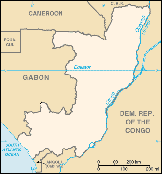 Location map Republic of the Congo