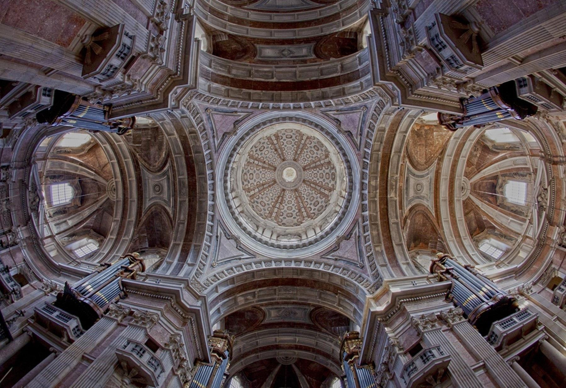 File Cupola Da Basilica Do Convento De Mafra Jpg