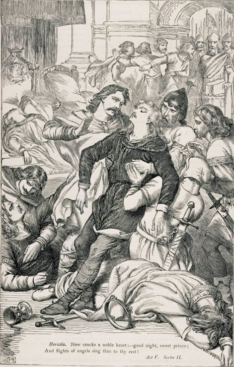 Horatio at Hamlet's death