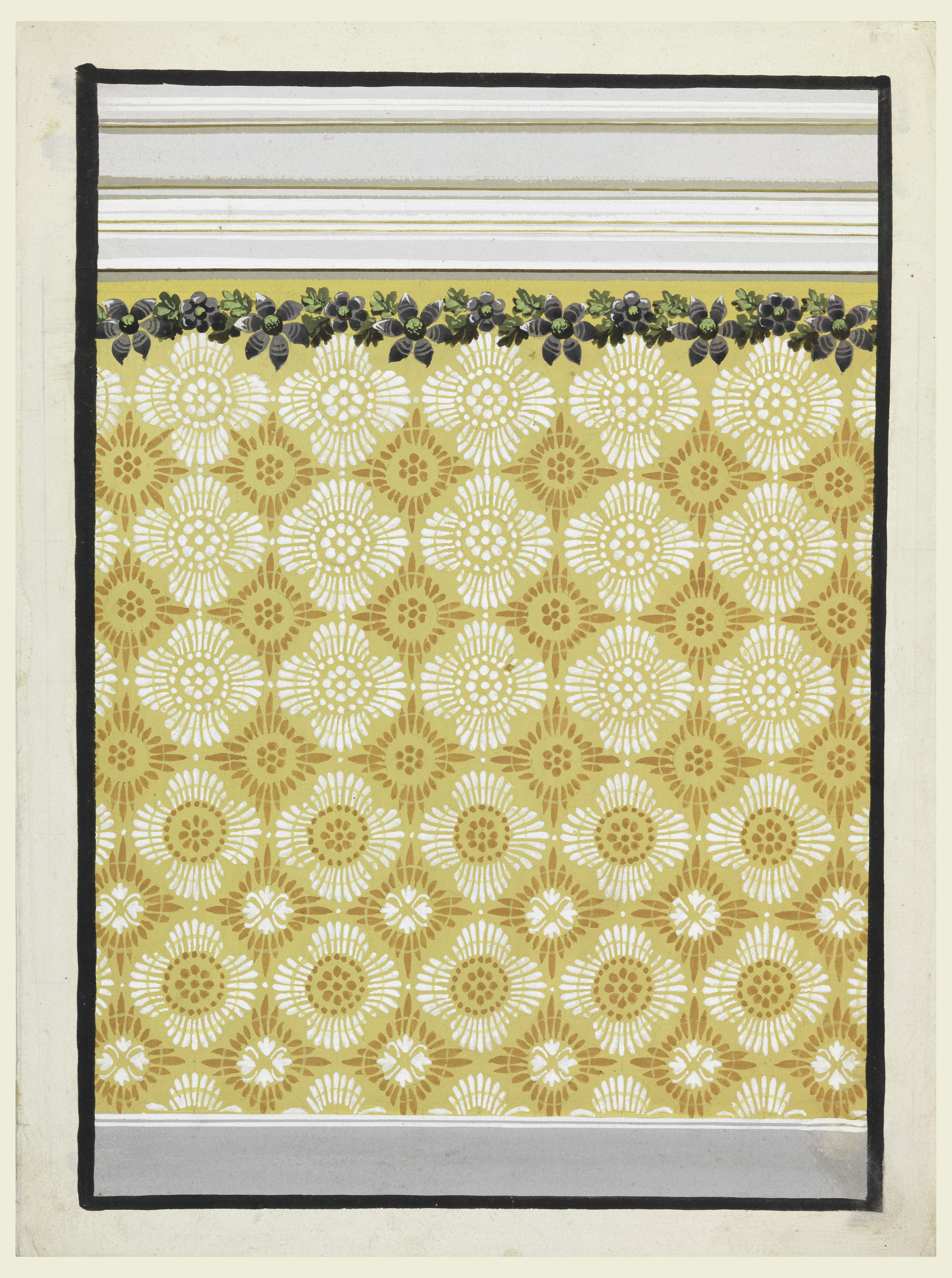 File:Drawing, Design for a Painted Wall Decoration, with ...