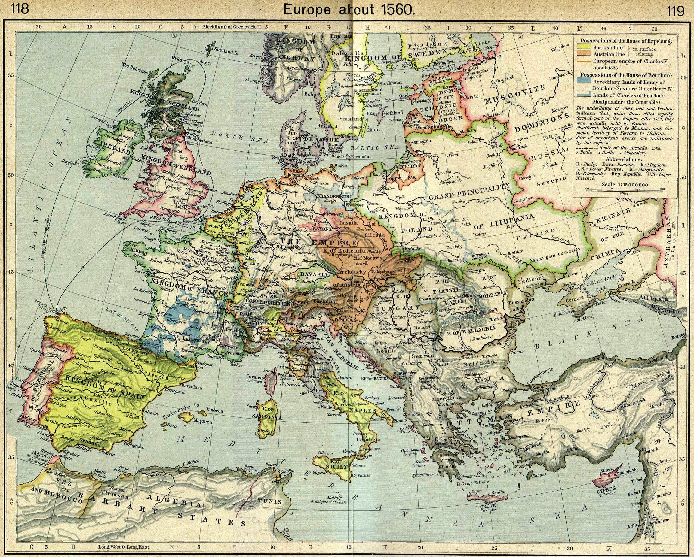 Map Of Europe 1560.File Europe In 1560 Jpg Wikimedia Commons