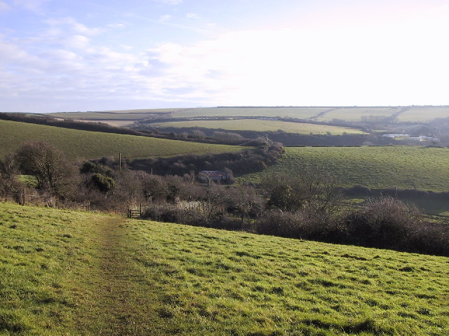 Farmland at North Bolberry. Looking south-east