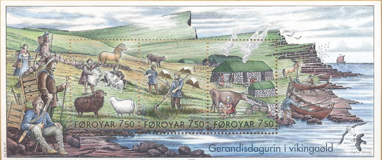 File Faroe Stamps 515 517 Everyday Life In The Viking Age