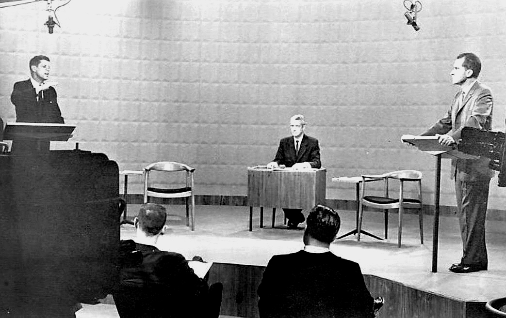 Photo of the first presidential debate, September 26, 1960