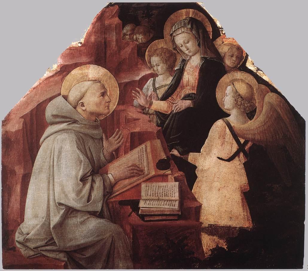 https://upload.wikimedia.org/wikipedia/commons/e/e0/Fra_Filippo_Lippi_-_The_Virgin_Appears_to_St_Bernard_-_WGA13229.jpg