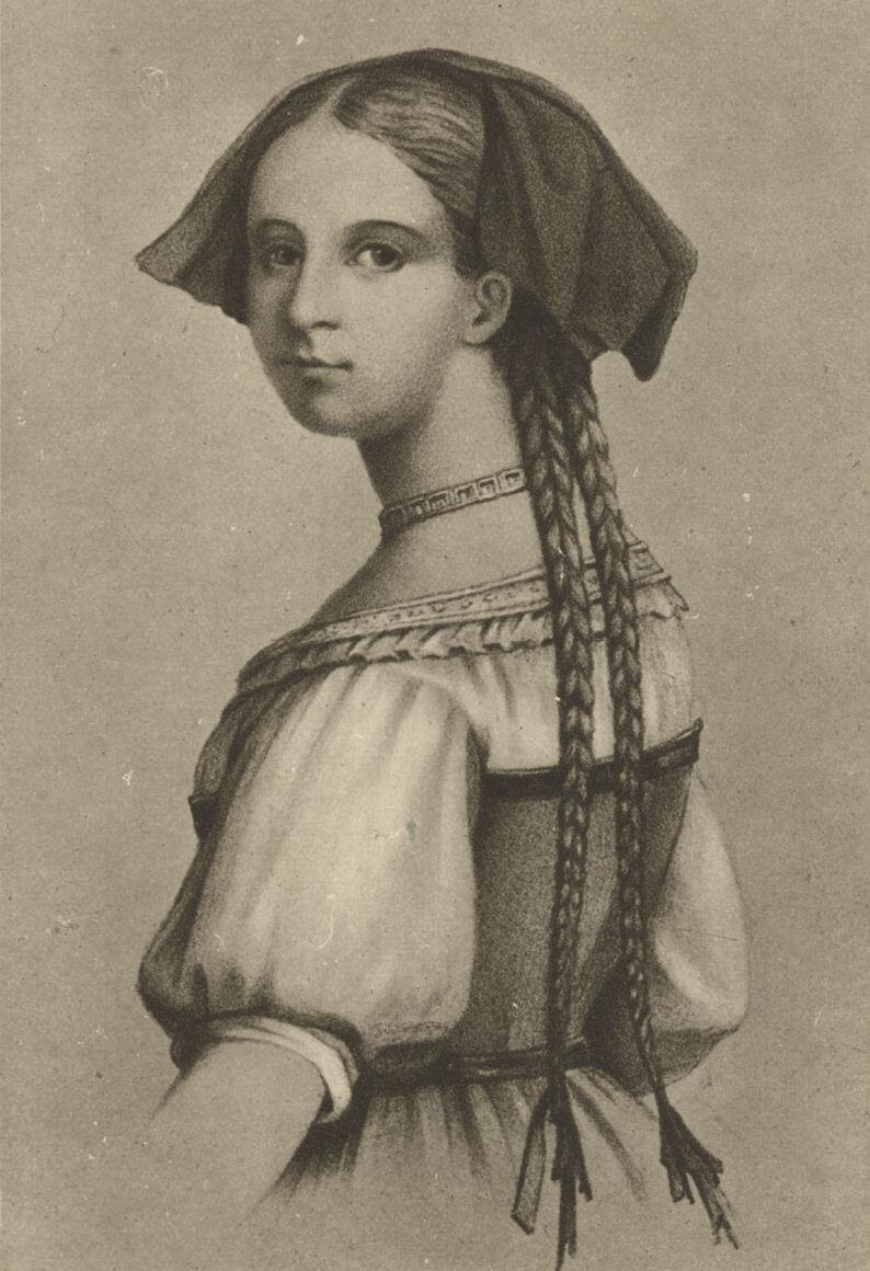 Friederike Brion w regionalnym stroju alzackim