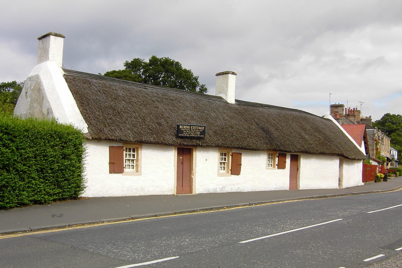 Burns Cottage in Alloway, Scotland