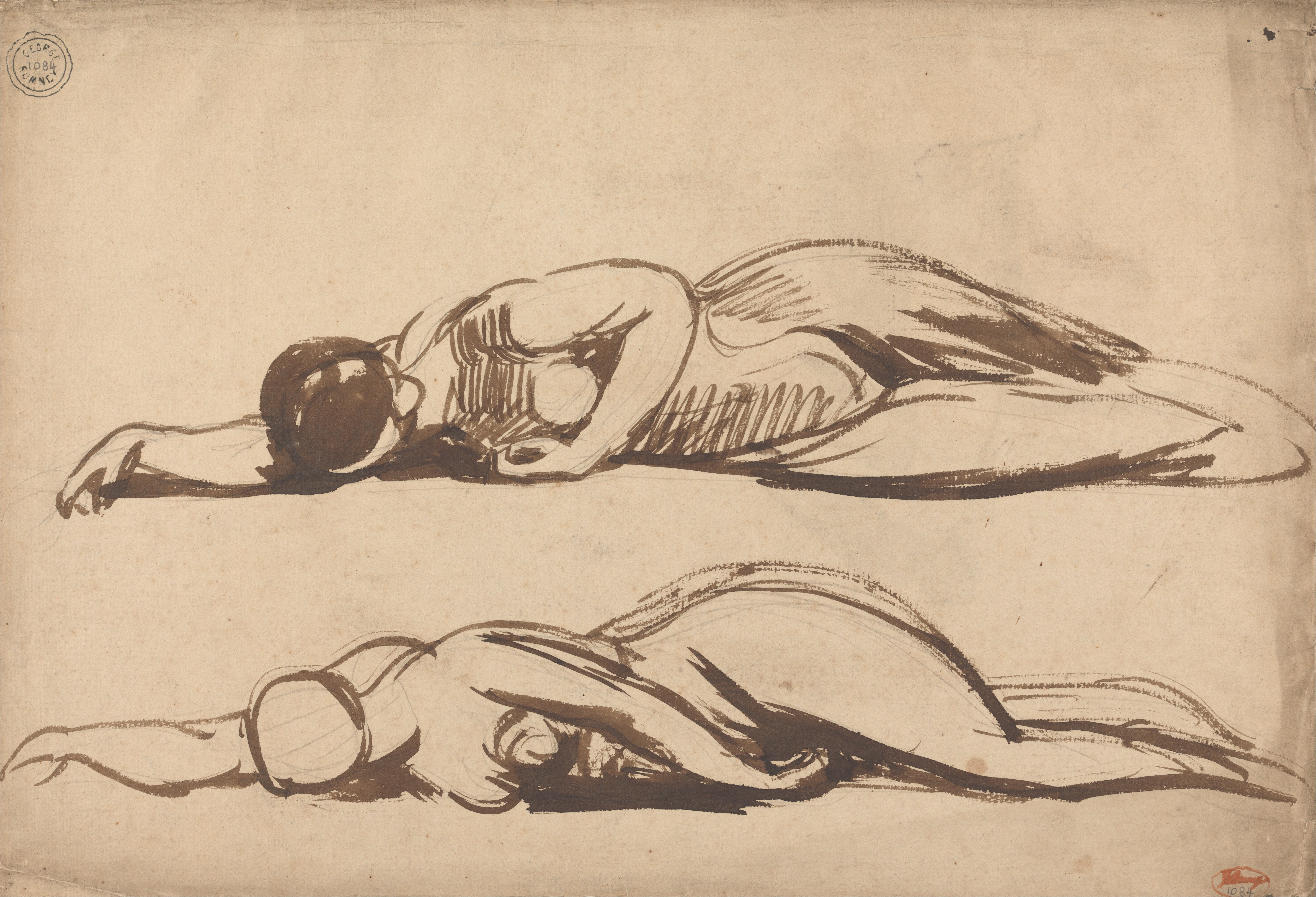File:George Romney - Sketches of a Prostrate Woman - Google Art ...