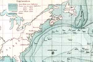 Historic chart including the Grand Banks.