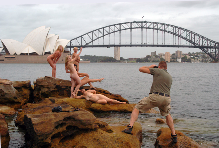 Nude photo shoot sydney opera house