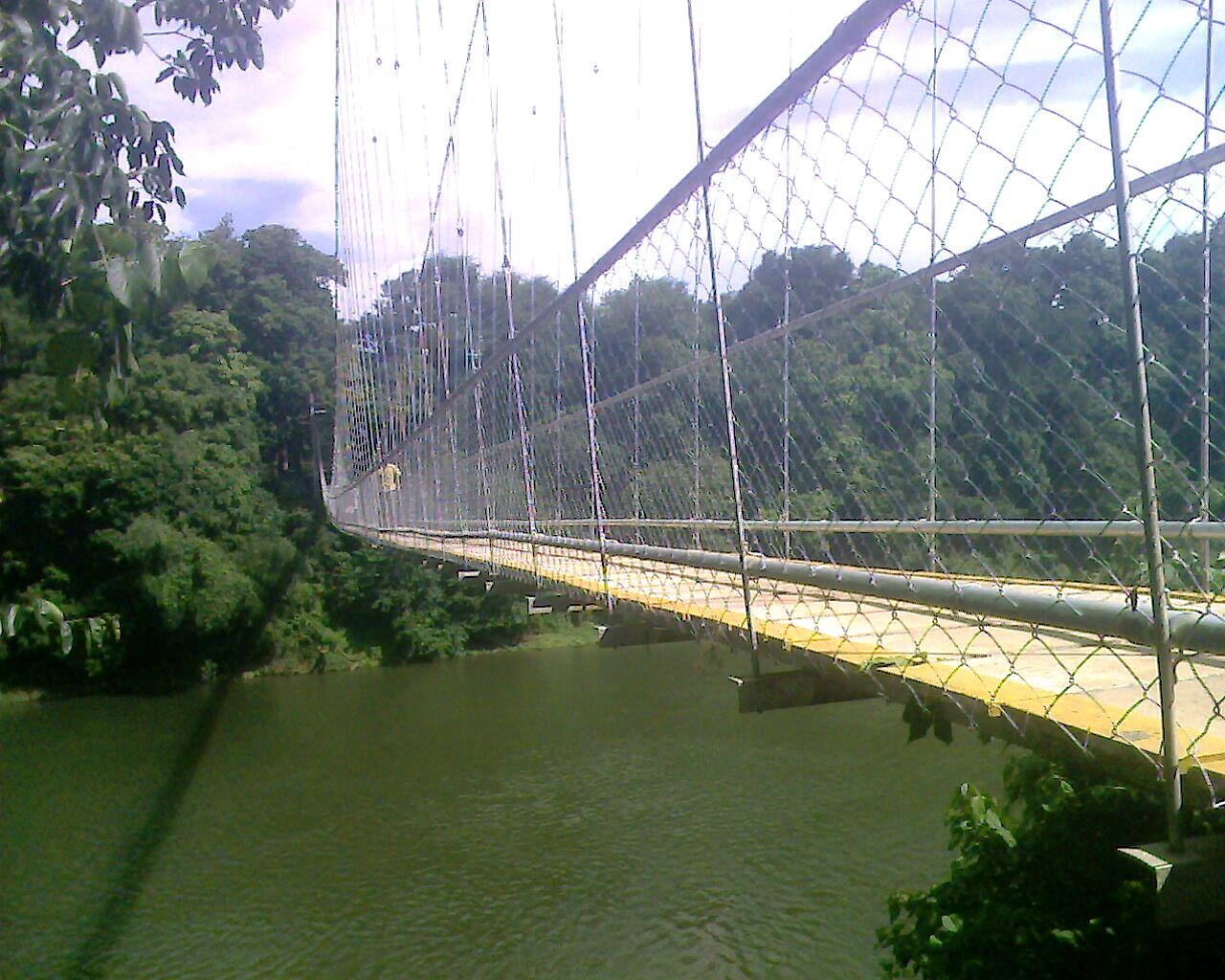Hanging Bridge across Chaliyar at Nilambur