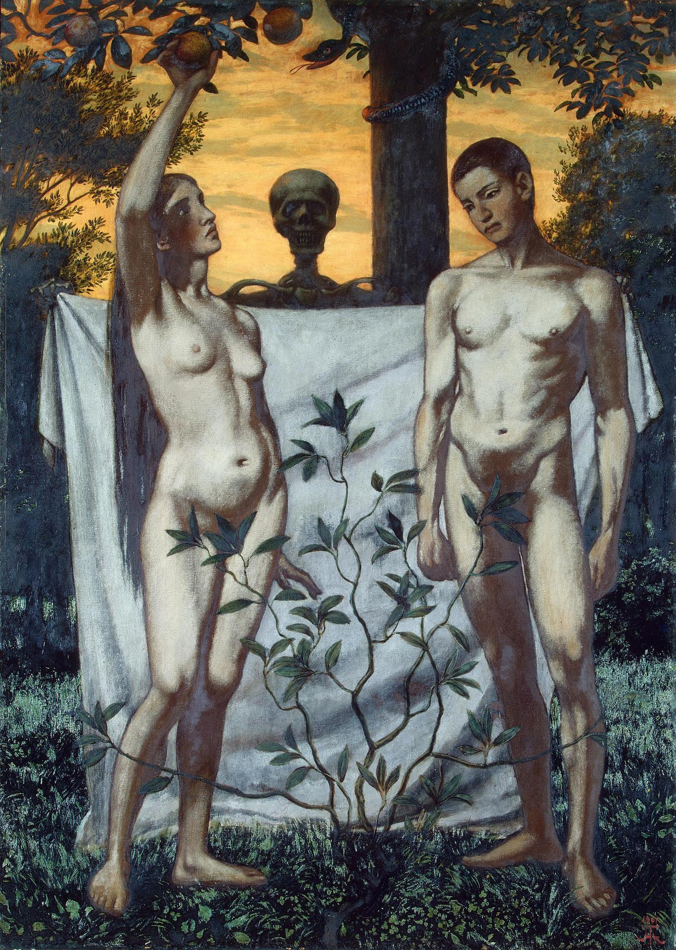 Hans Thoma - Adam u Eva