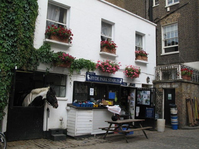 Hyde Park Stables, Bathurst Mews, W2 (2) - geograph.org.uk - 1517609