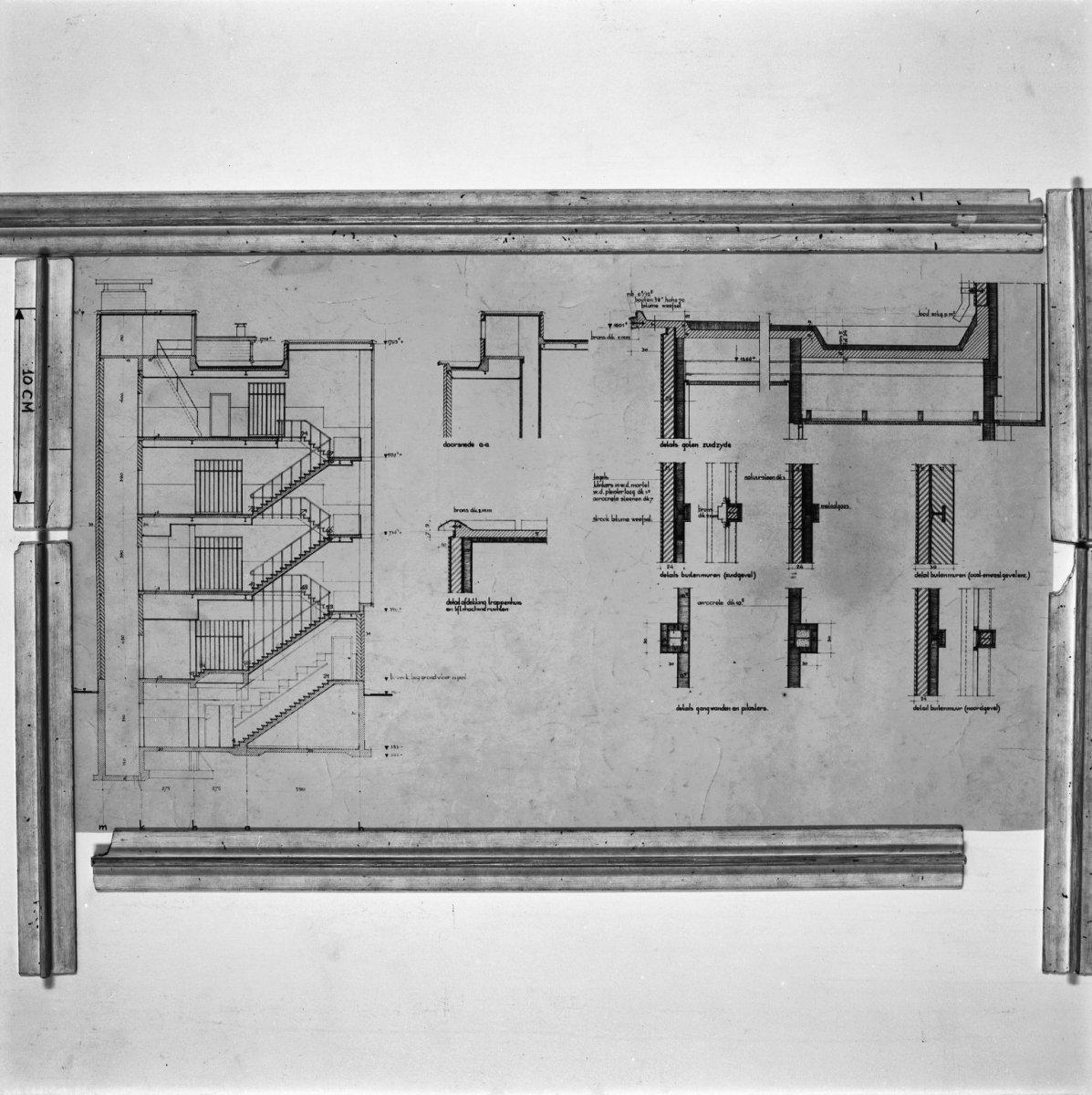 File int ontwerp tekening trappenhuis arnhem 20315611 wikimedia commons - Decoratie van trappenhuis ...