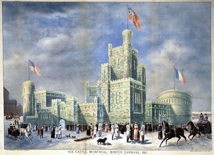 Ice Castle Montreal Winter Carnival 1887