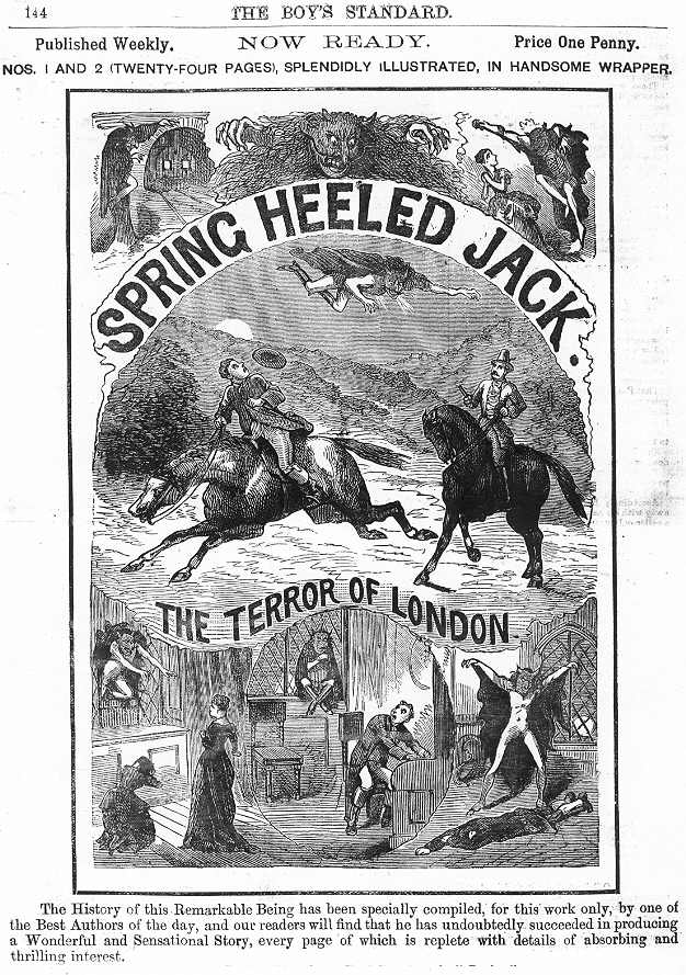 An image of Spring-heeled Jack from The Boys Standard.