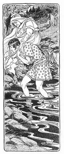 Jason carries Hera across the river