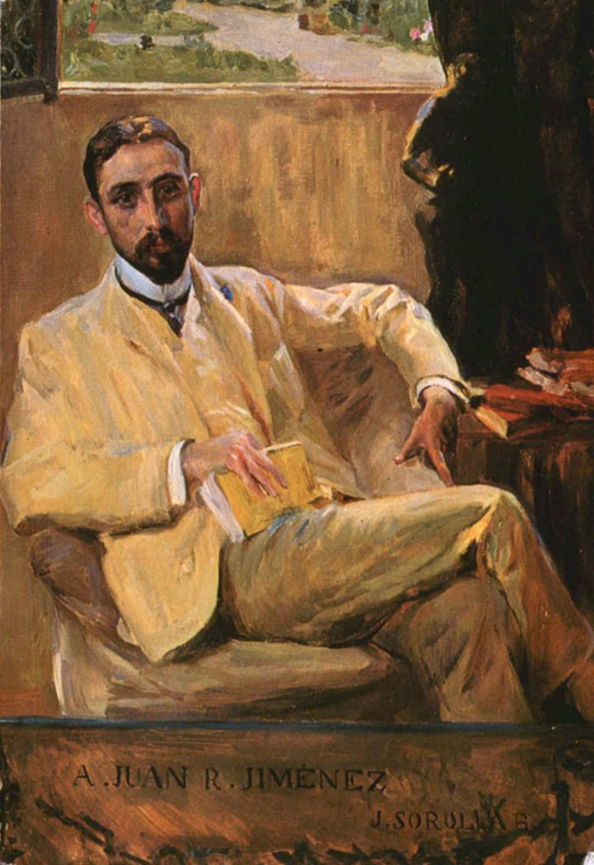 Retrato de Juan Ramón Jiménez, pintado por Joaquín Sorolla.