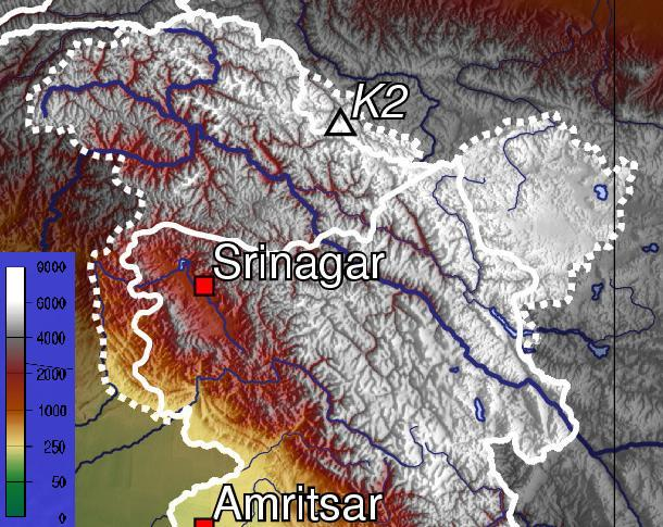 Ladakh region has high altitude.