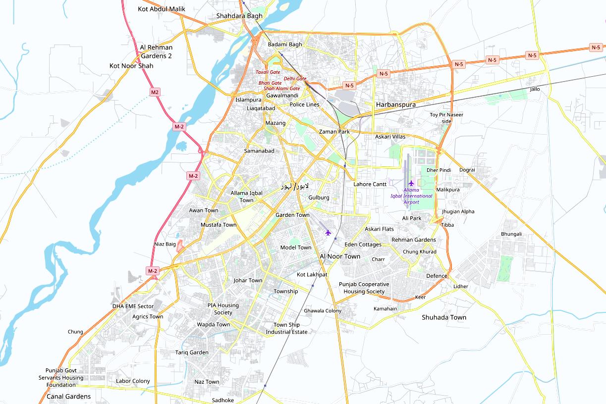 Description Lahore Map.PNG