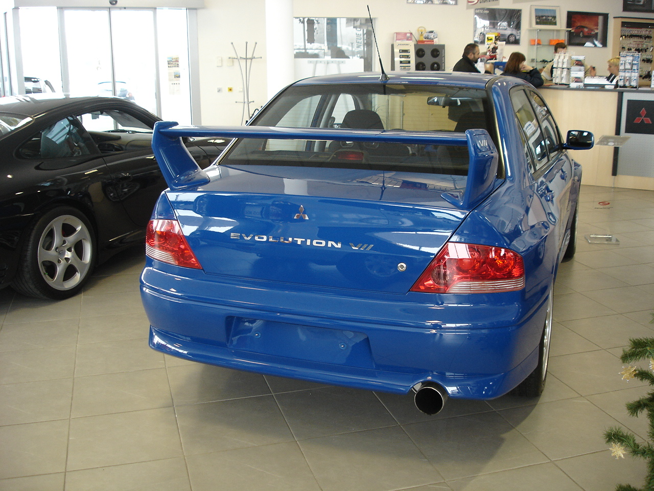 File:Lancer Evo VII Heck.jpg - Wikimedia Commons