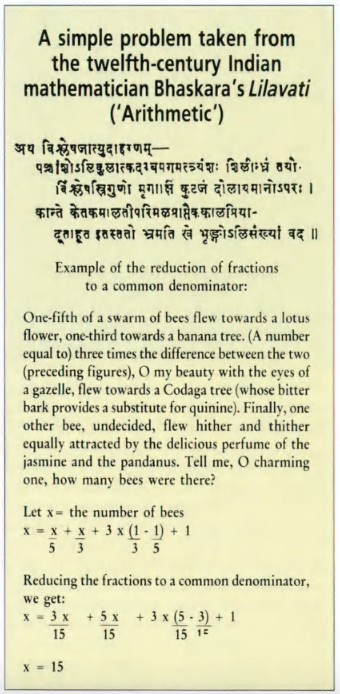 Arithmetic >> Līlāvatī - Wikipedia