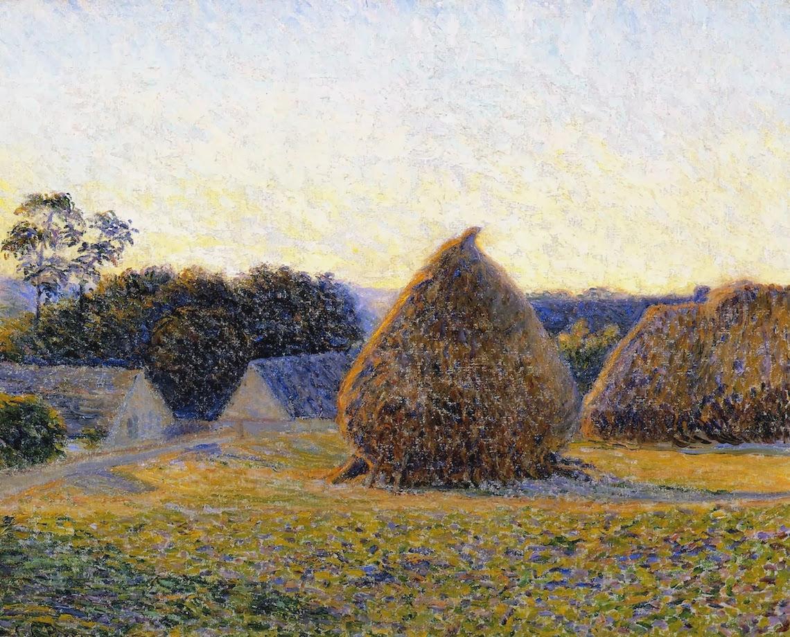Lilla Cabot Perry, 1896 - Haystacks, Giverny.jpg