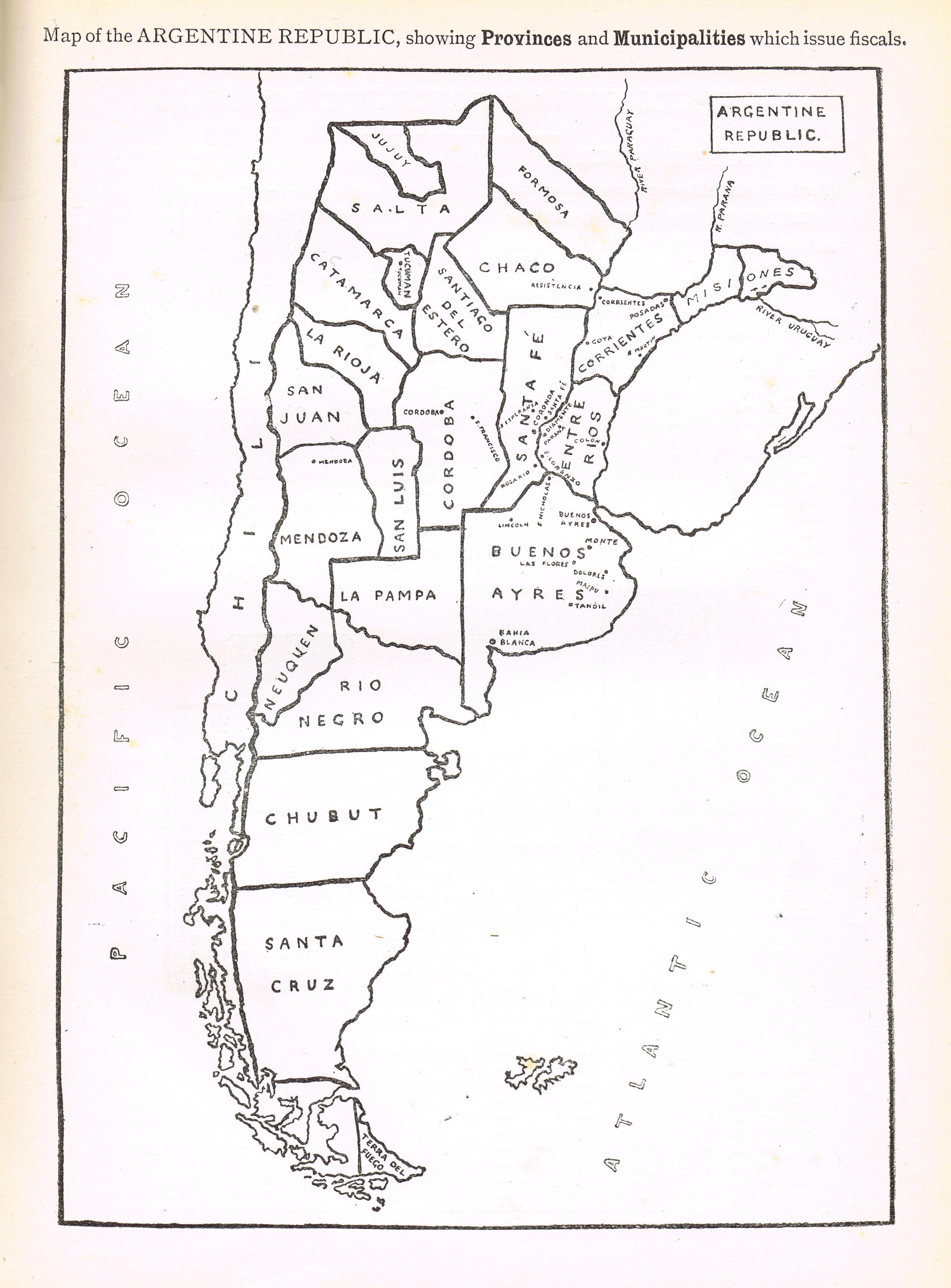 Argentina Map By Province - Argentina map by province
