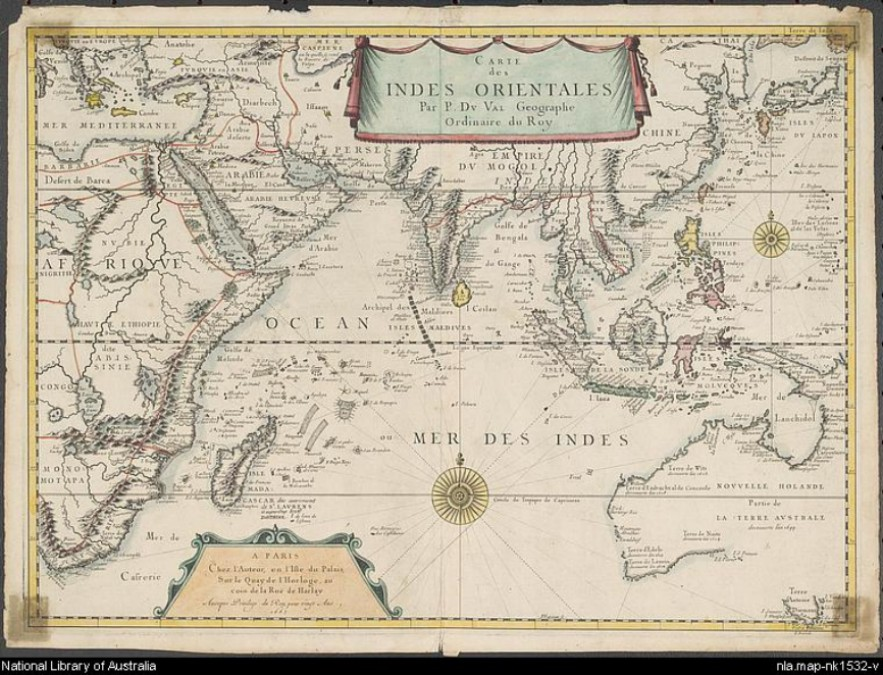 map of indian ocean 1665