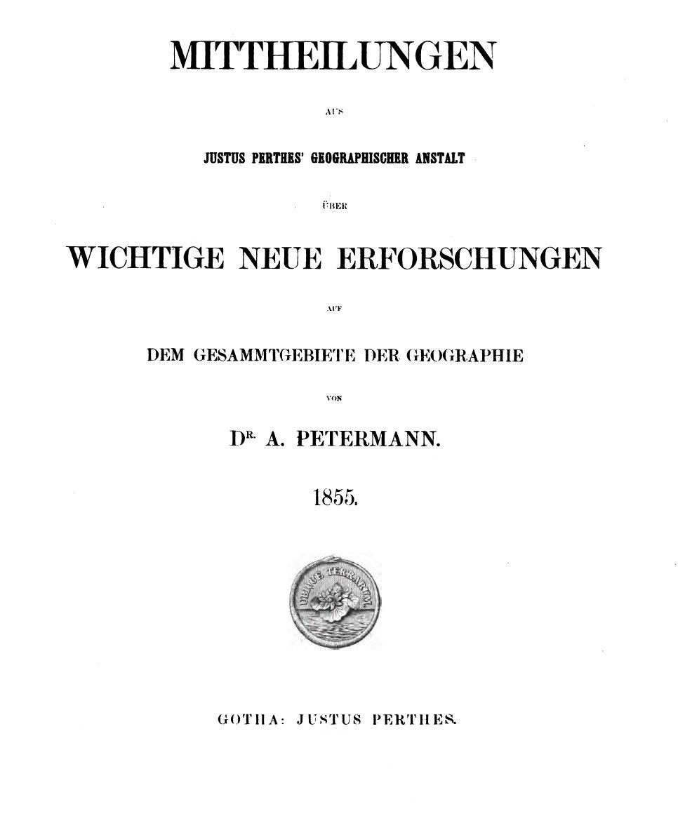 Petermanns Geographische Mitteilungen - Wikipedia
