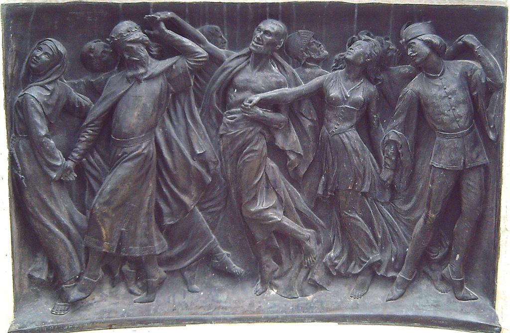 La Danza de la Muerte. Detalle del monumento a Calderón de Madrid (Joan Figueras Vila, 1878).