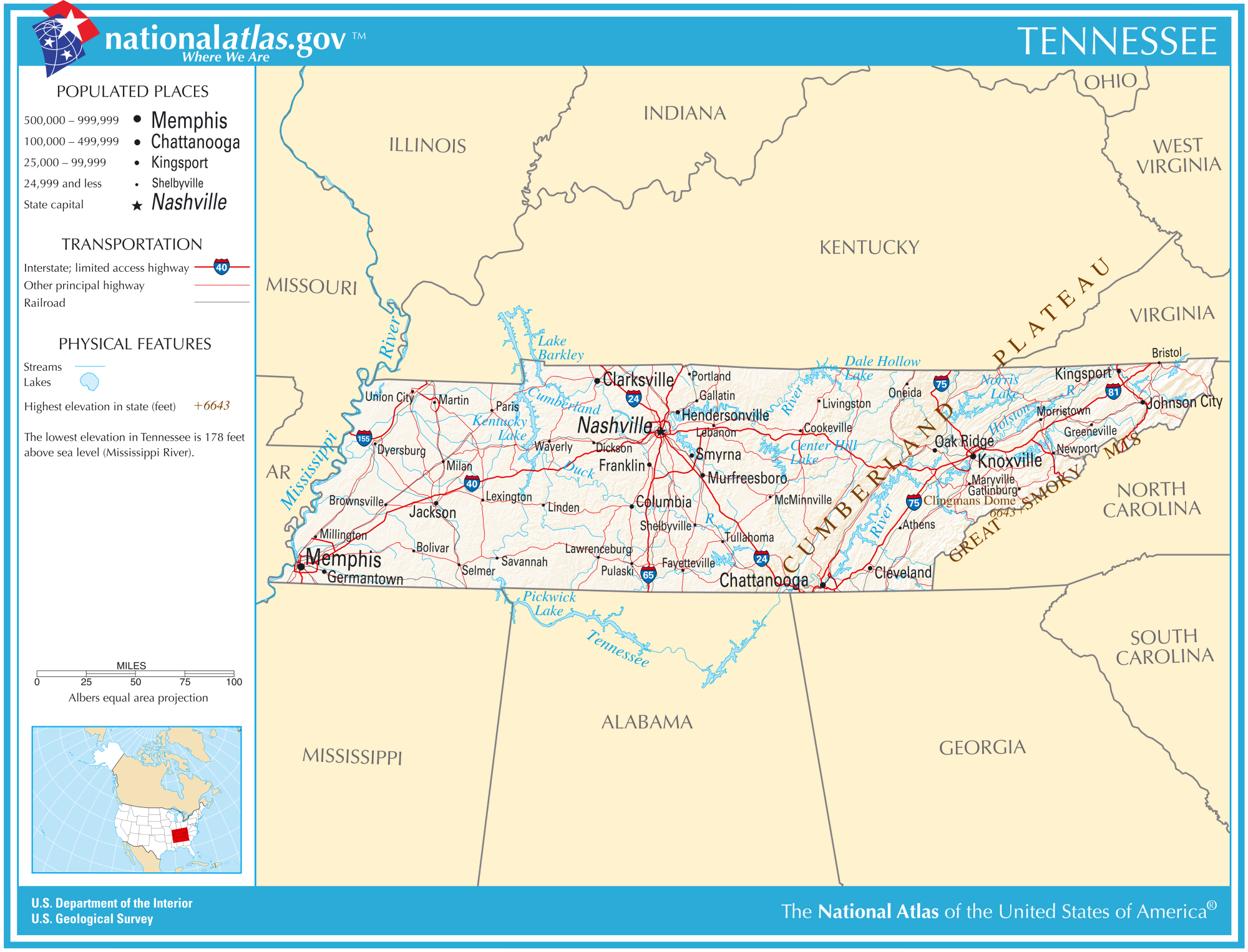 FileMap Of USA TNsvg Wikimedia Commons Tennessee State Map Map Of - Map showing us time zones