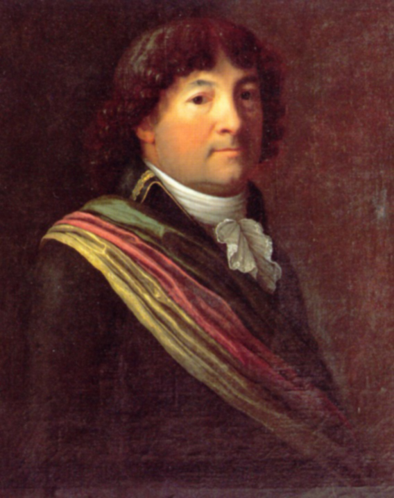 Peter Ochs wearing the official attire of a director of the Helvetic Republic, ca. 1798/99