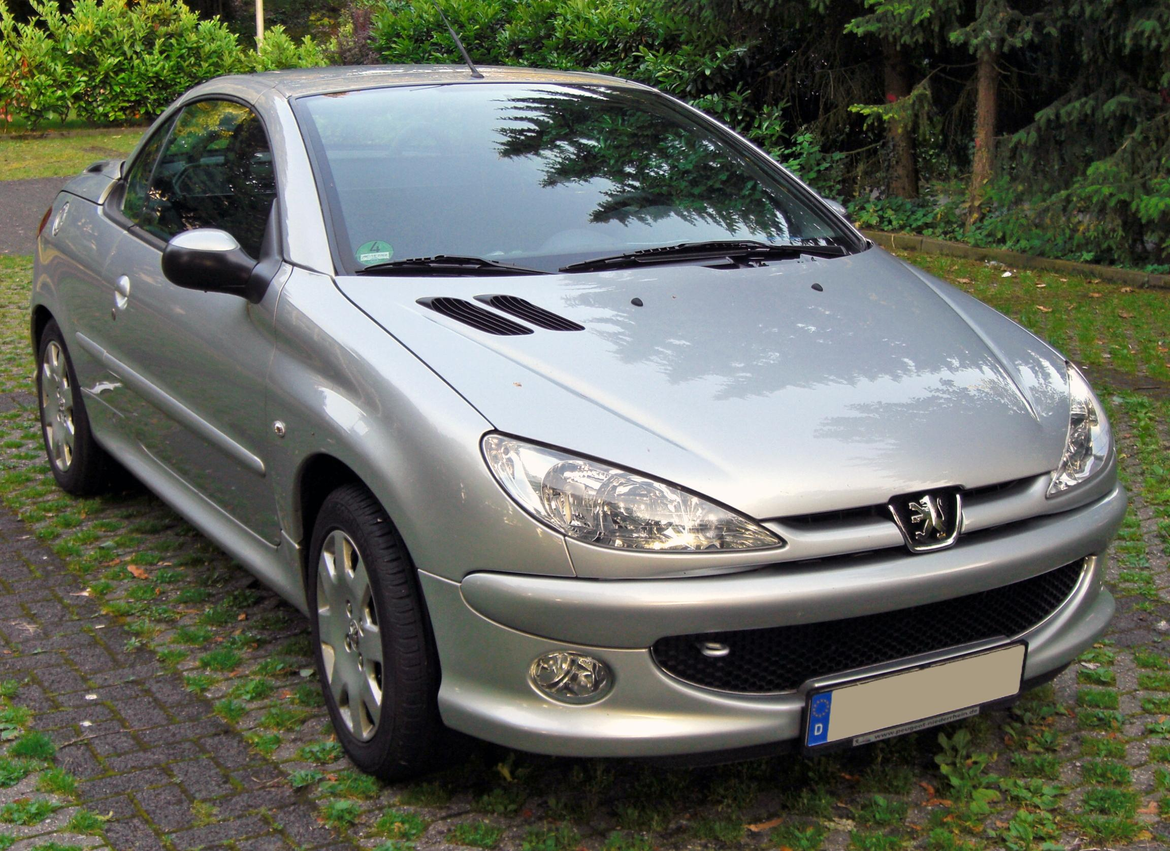 file peugeot 206 cc 20090612 front jpg wikimedia commons. Black Bedroom Furniture Sets. Home Design Ideas