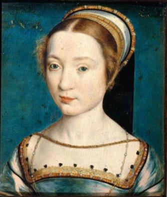 Claude of France, wife of Francis I. Anne served as her maid of honour for nearly seven years. Portrait of unknown, formerly known as Claude de France (Corneille de Lyon, 1535-1540, Pushkin museum).jpg