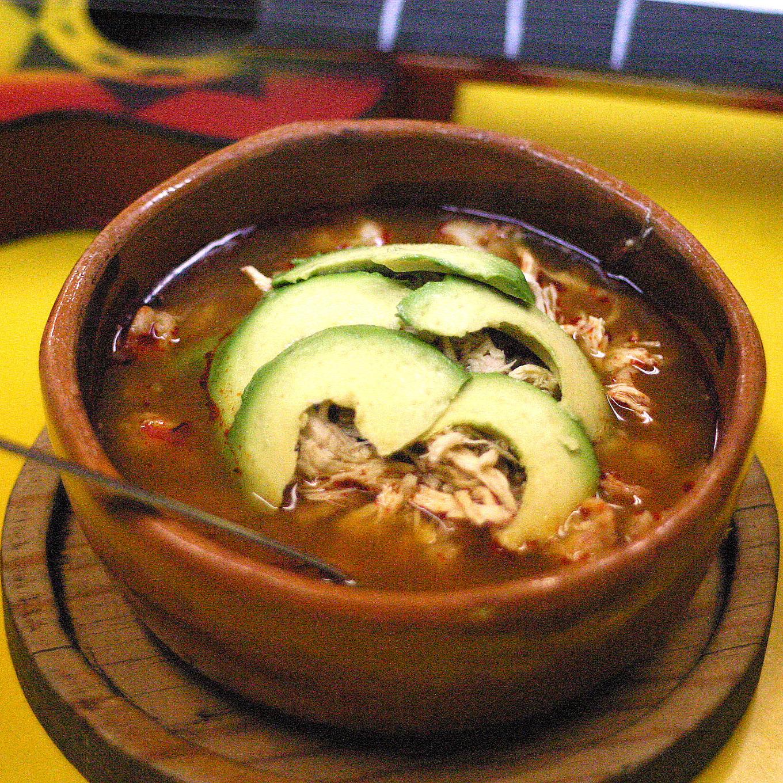 Pozole mexican soupe