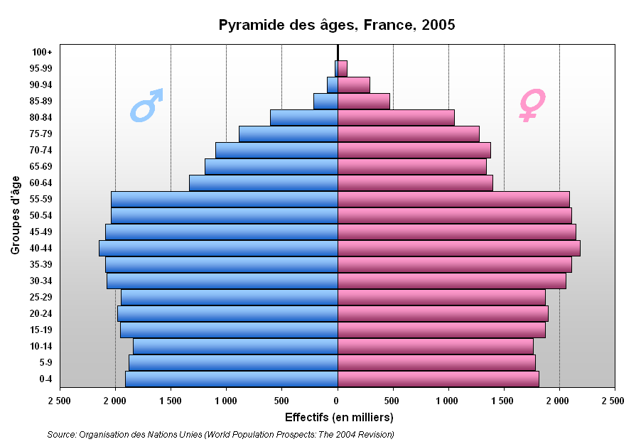 France Population Pyramid File Pyramide France Png