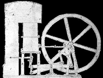 Illustration zu Robert Stirling´s Patentanmeldung 1816
