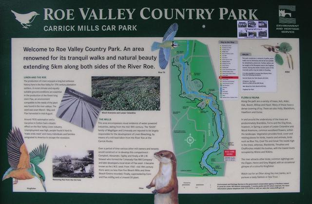 Roe Valley Country Park plaque - geograph.org.uk - 730690
