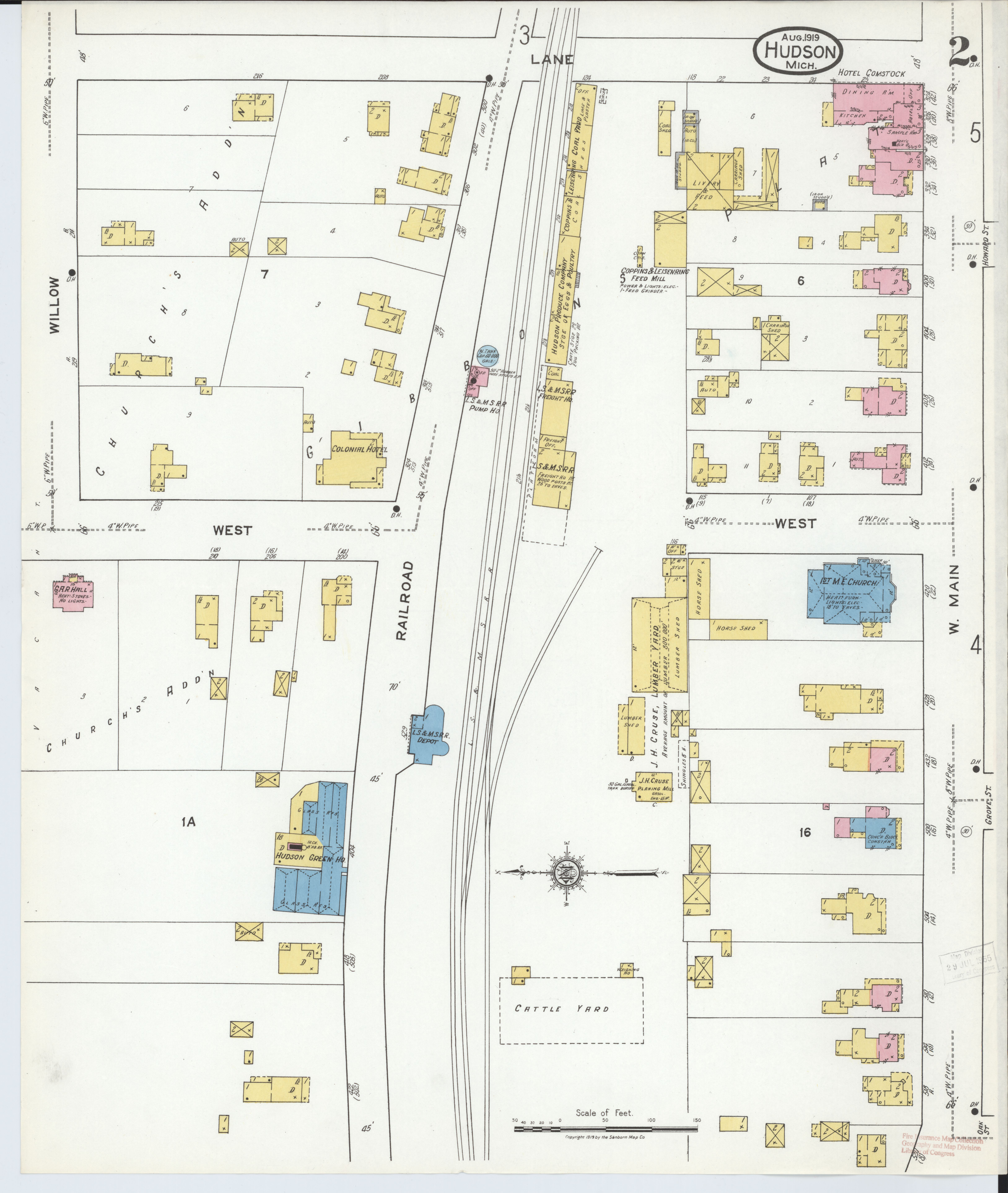File Sanborn Fire Insurance Map From Hudson Lenawee County