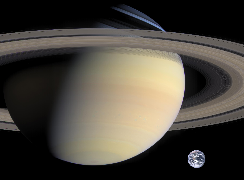 File:Saturn, Earth size comparison2 jpg - Wikimedia Commons