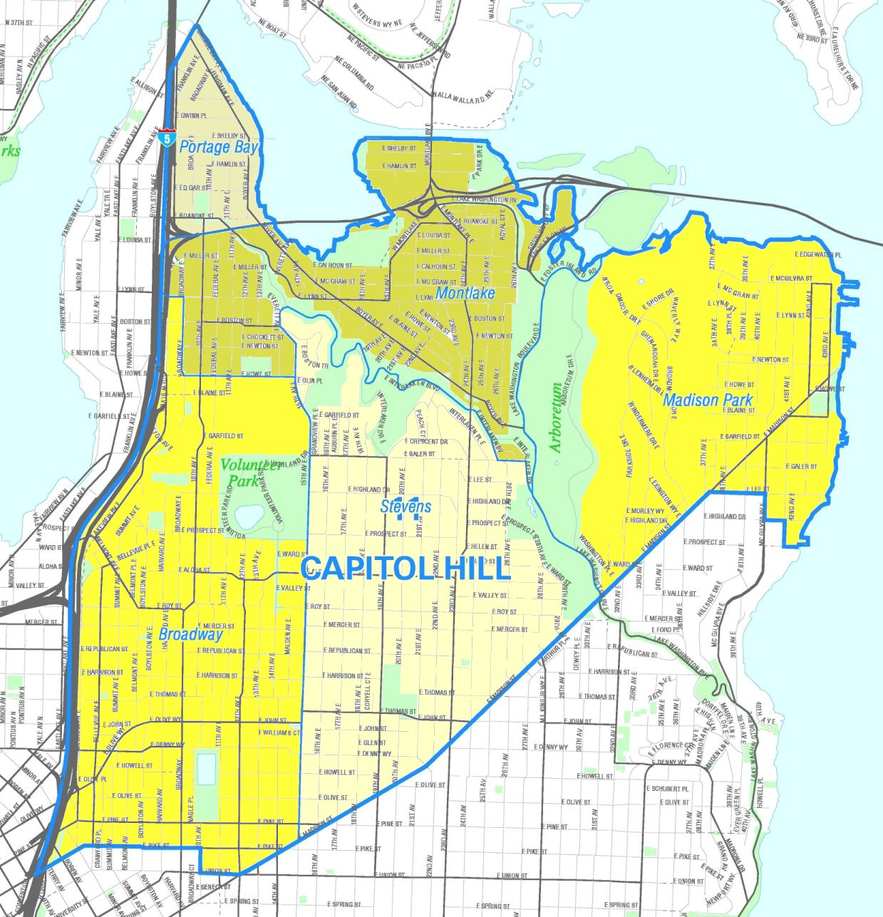 FileSeattle Capitol Hill Mapjpg Wikimedia Commons - Seattle map with neighborhoods