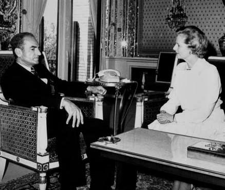 محمدرضا شاه و مارگارت تاچر
