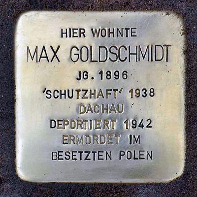 Stolperstein Domitianstrasse 4 Goldschmidt Max