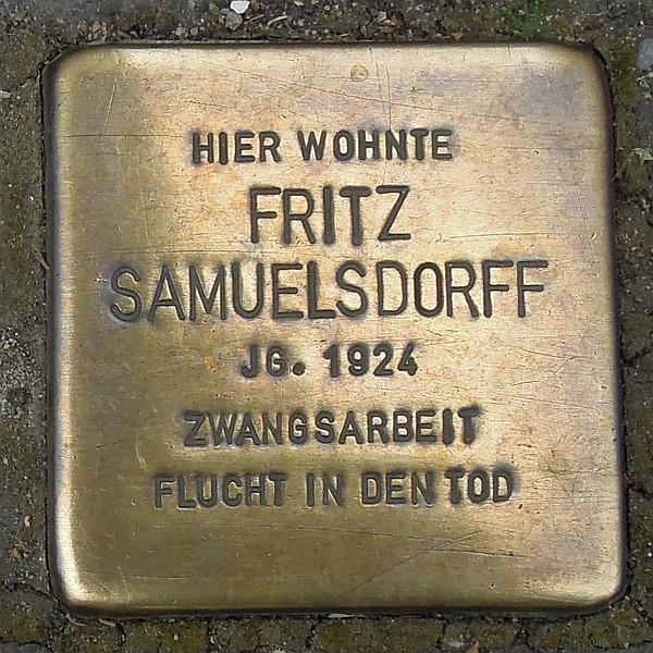 Stolperstein für Fritz Samuelsdorff
