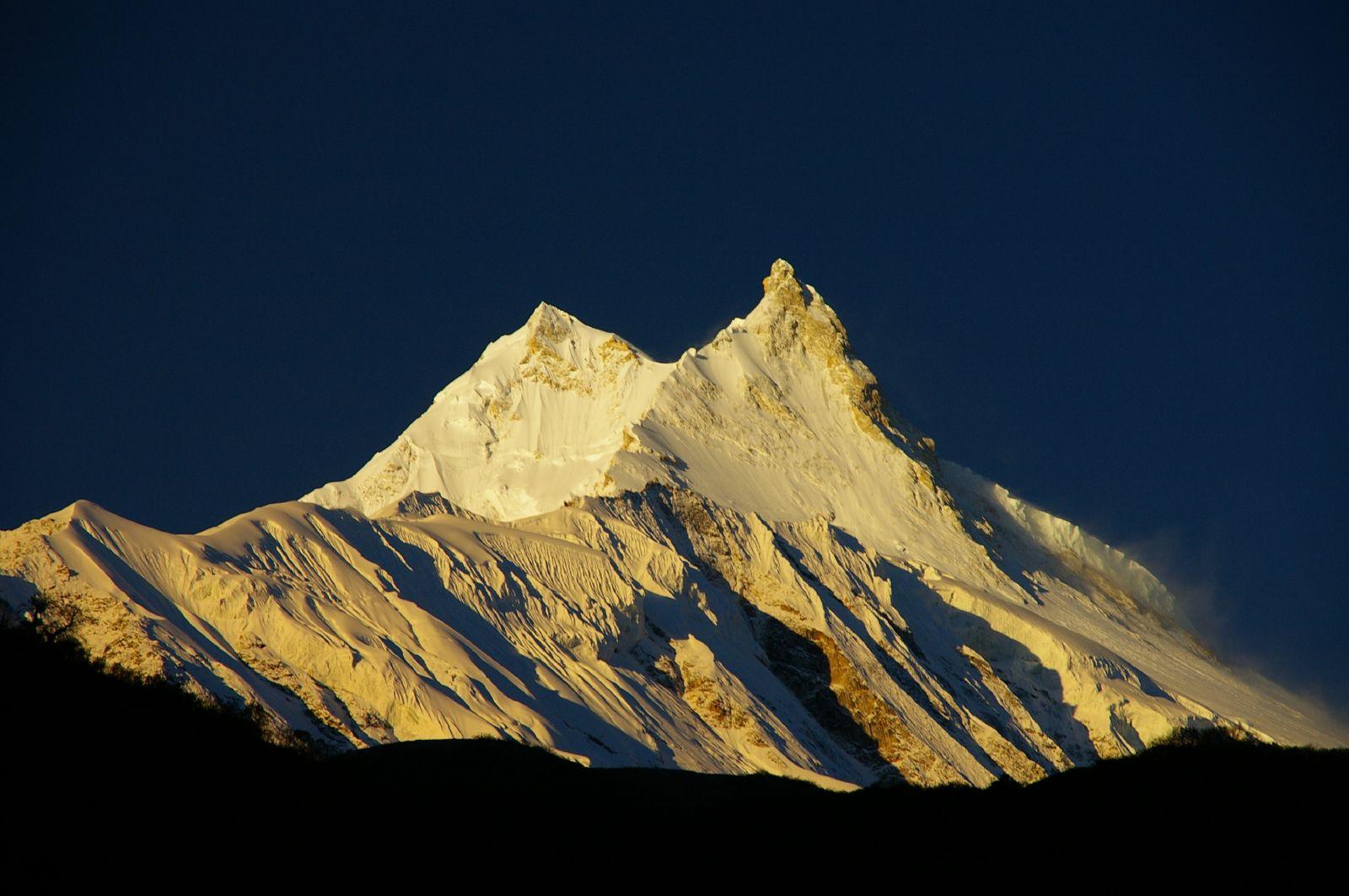 Afbeelding van de Manaslu bergtoppen