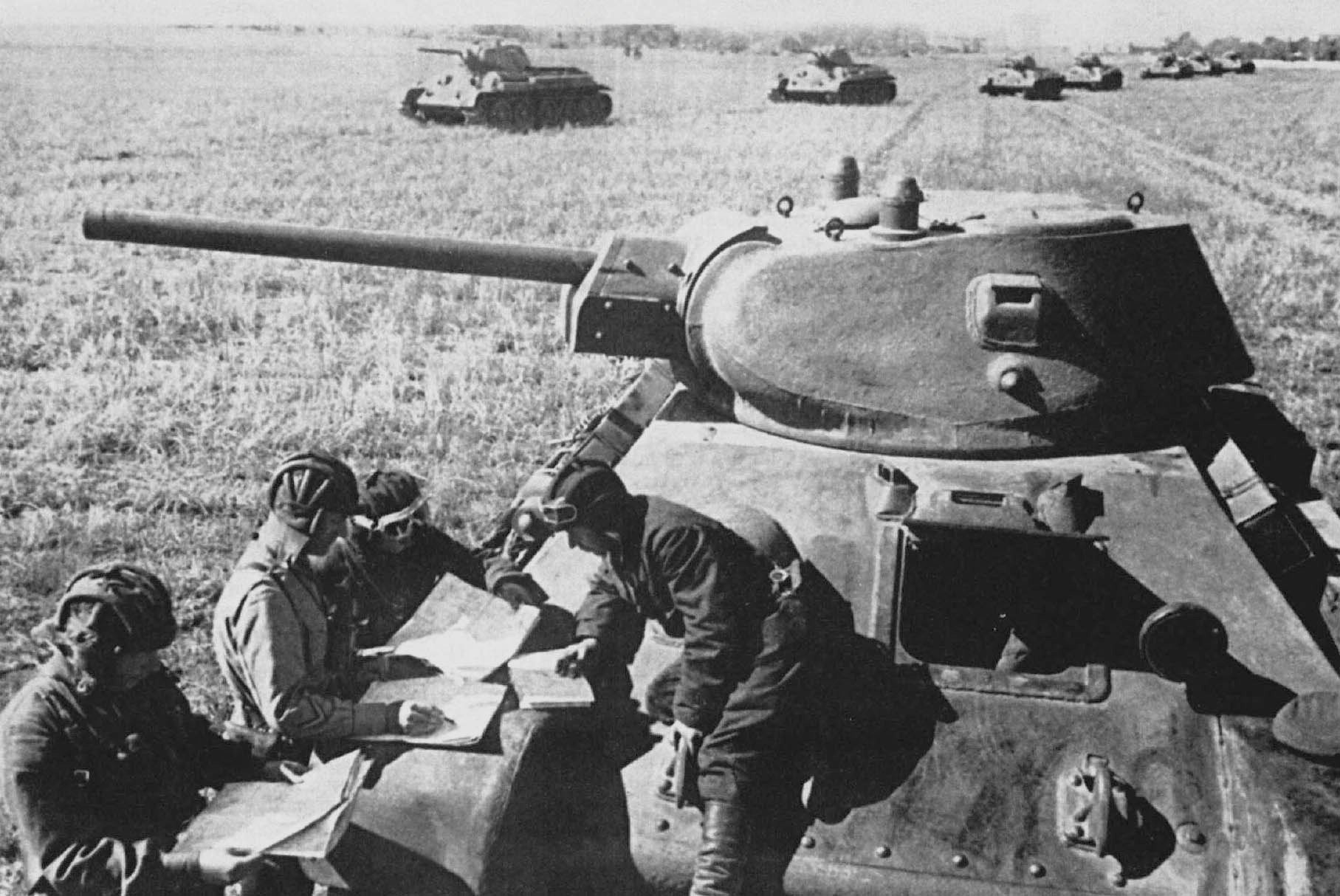 Soviet tanks in training