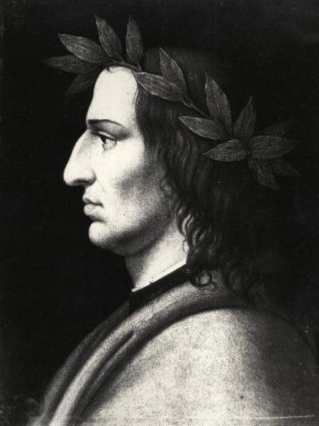 Testa di Virgilio di profilo