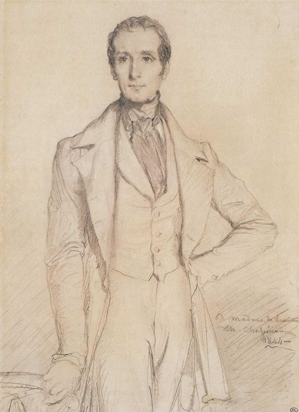 Alphonse de Lamartine por Théodore Chassériau
