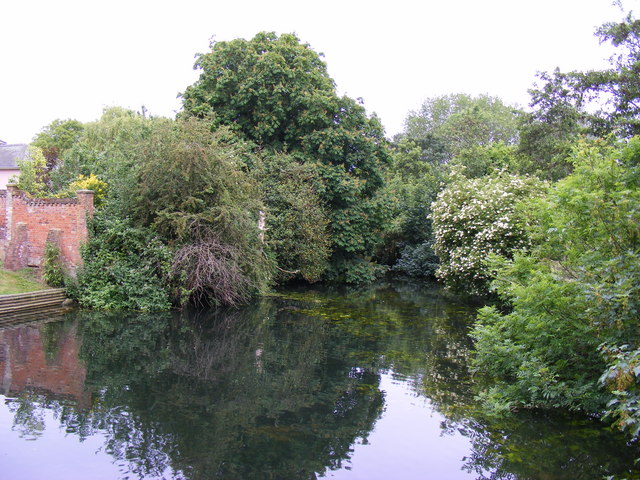 The River Stour at the Croft Sudbury - geograph.org.uk - 1342075